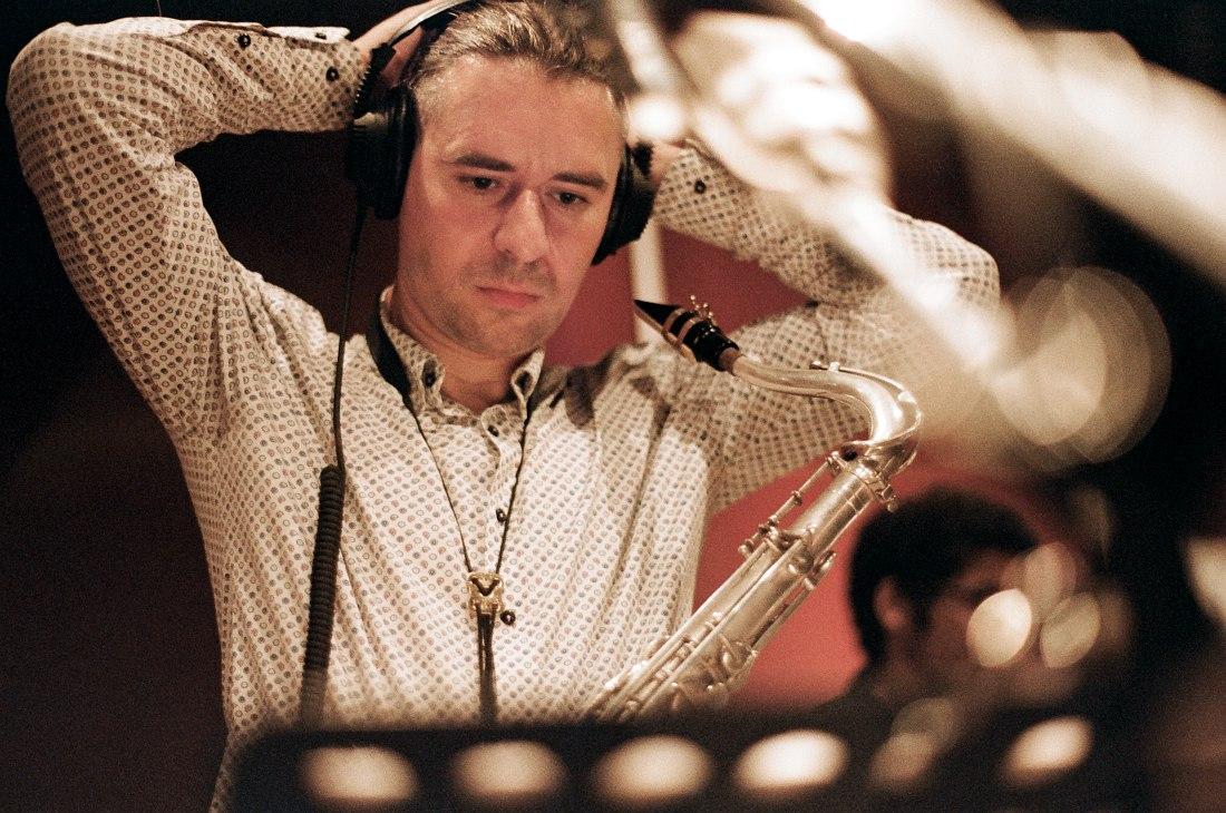 Дмитрий Мосьпан. Запись альбома в московской студии CineLab (фото © Евгений Петрушанский)