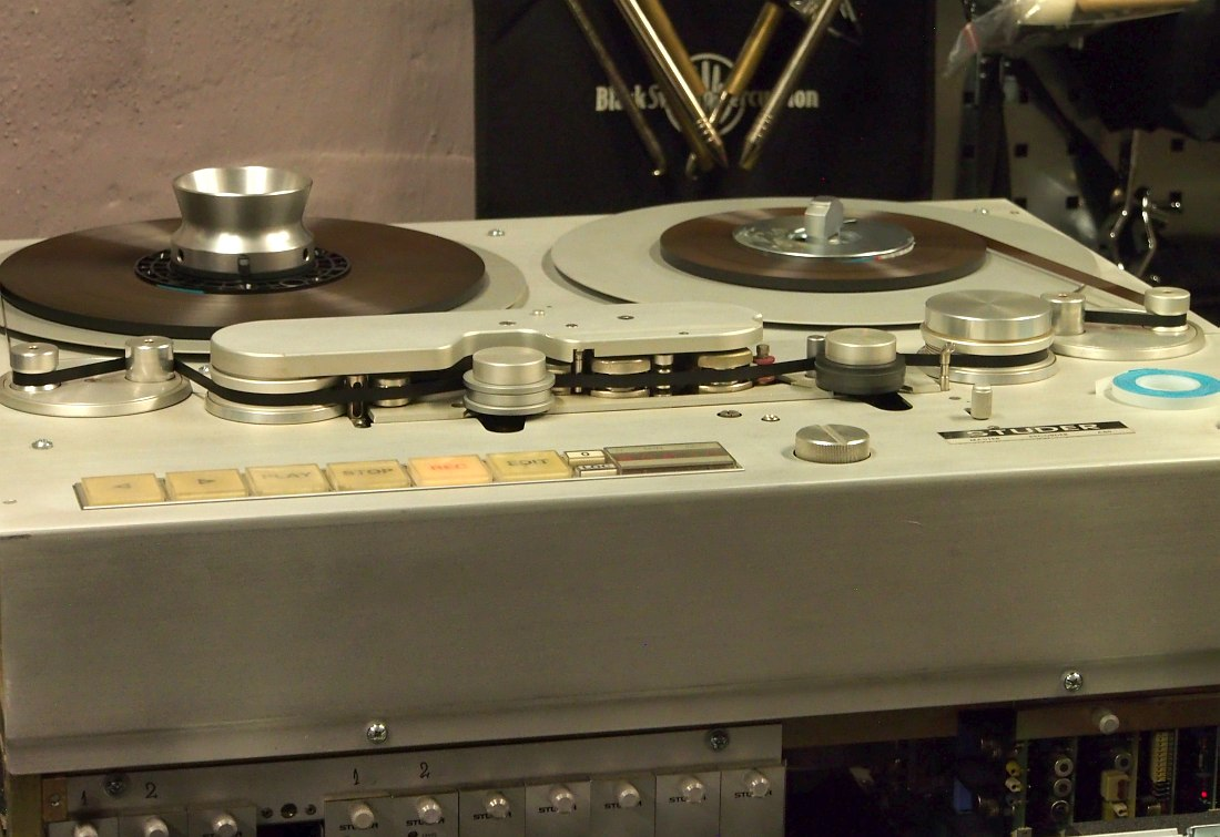 The legendary Studer A80 studio tape recorder