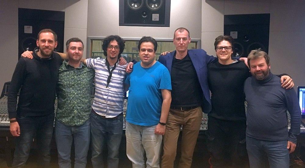 Участники записи в студии «Мосфильм»