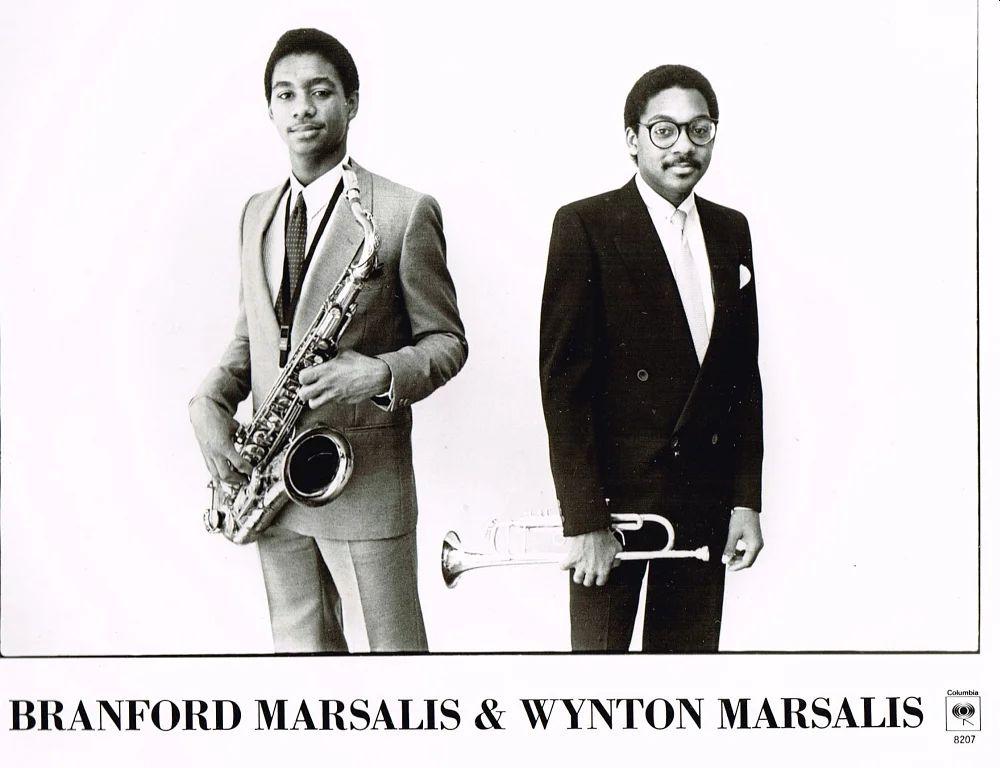 Первое рекламное фото братьев Марсалисов для корпорации CBS, в которую входил лейбл Columbia (1982)