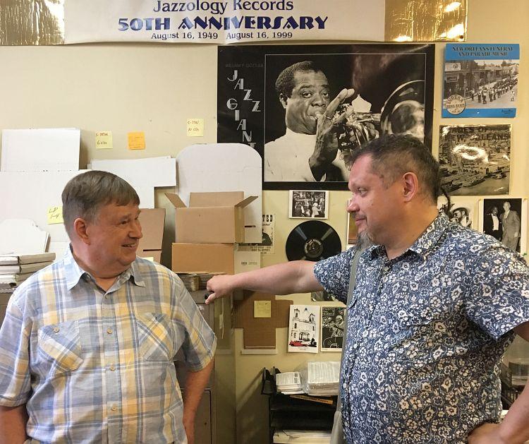 Ларс Эдегран беседует с автором очерка (Нью-Орлеан, июль 2019)