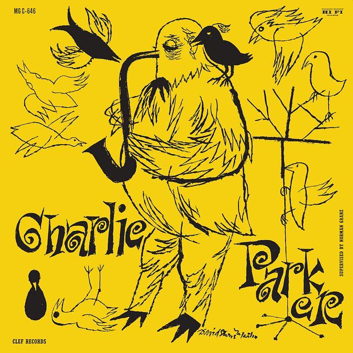 Обложка виниловой пластинки Чарли Паркера 1952 г. (художник Дэвид Стоун Мартин для лейбла Clef продюсера Нормана Гранца)