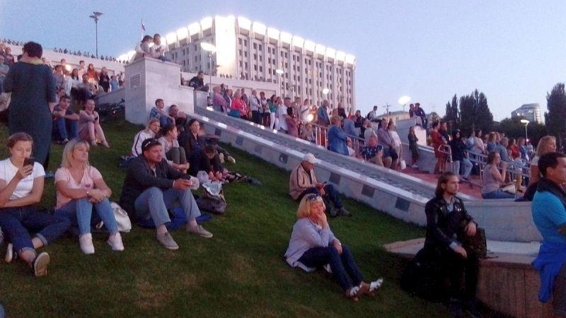 склон на площади Славы