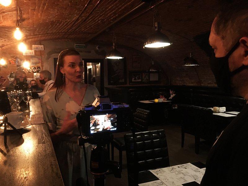 Съёмка интервью в JAM Club