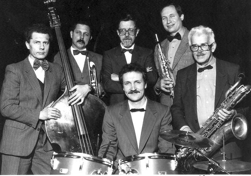 Рекламное фото The New Moscow Jazz Band перед поездкой в Европу. 1991