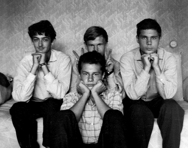 Воронеж. Валерий Кацнельсон, Борис Банных, ?, Александр Банных, 1963. Фото © Валерий Кацнельсон