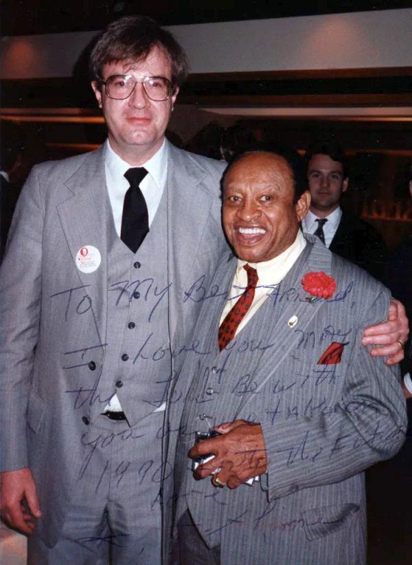 Док Скиннер и Лайонел Хэмптон: фотография с дарственной надписью музыканта, 1990