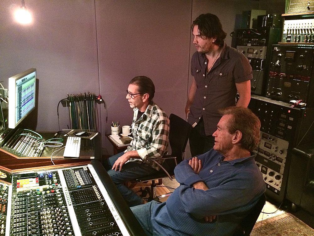 Дэвид Калиш, Ник Винцкевич и Билл Чамплин в студии Red Stars in Silver Lake