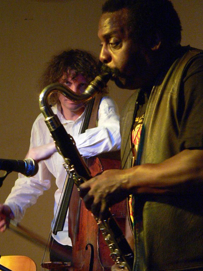 Дуэт с саксофонистом Дэвидом Мюррэем (David Murray). Москва, КЦ «ДОМ», 2006