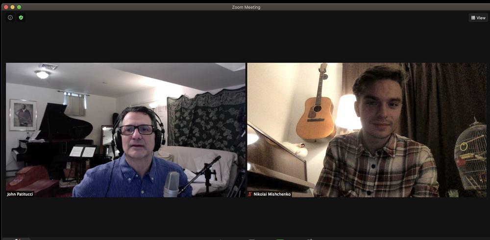 Онлайн-занятие в Бёркли: преподаватель — басист Джон Патитуччи, студент — Николай Мищенко