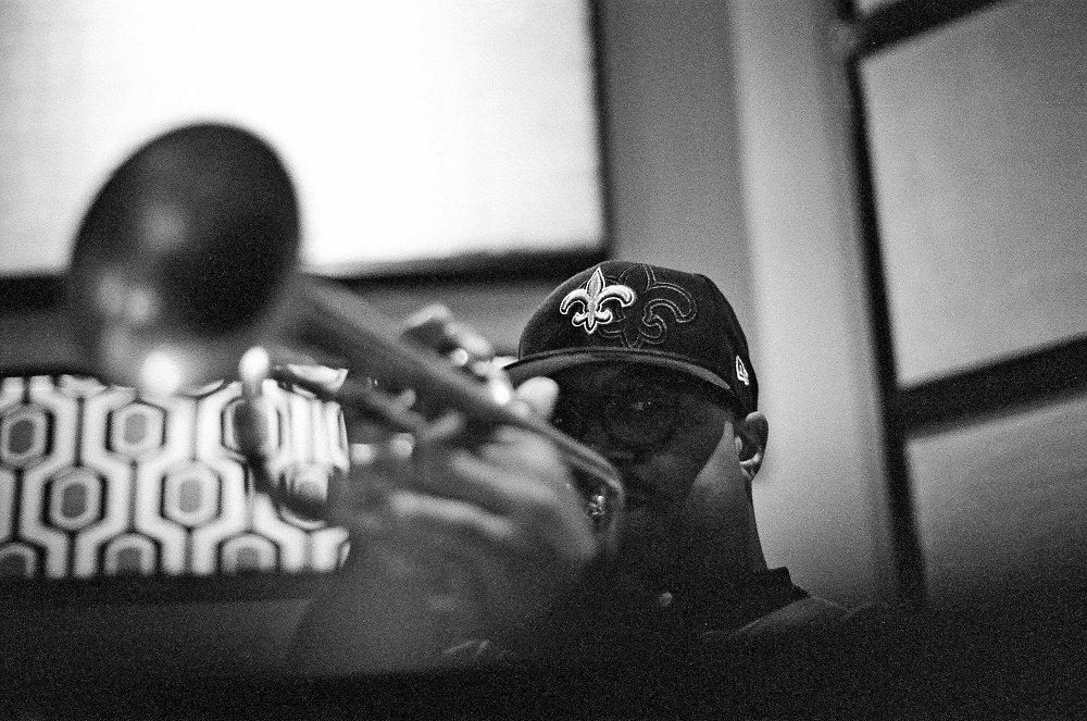 Николас Пэйтон на записи альбома (фото © Евгений Петрушанский)