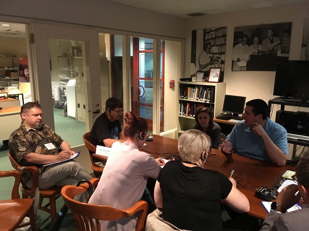 Встреча в офисе Дома-музея: Рикки Рикарди — крайний справа