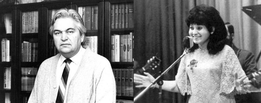 The composer, Evgeny Krylatov, and the original performer, Aida Vedishcheva (born Ida Weiss, 1941)