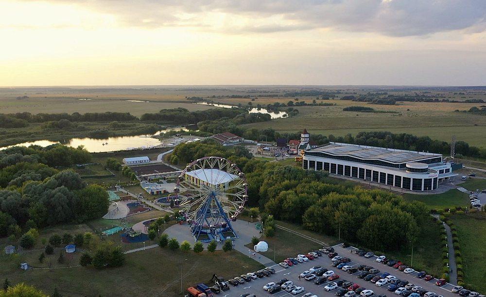 Загородный курорт «Окская жемчужина» с высоты птичьего полёта в день фестиваля